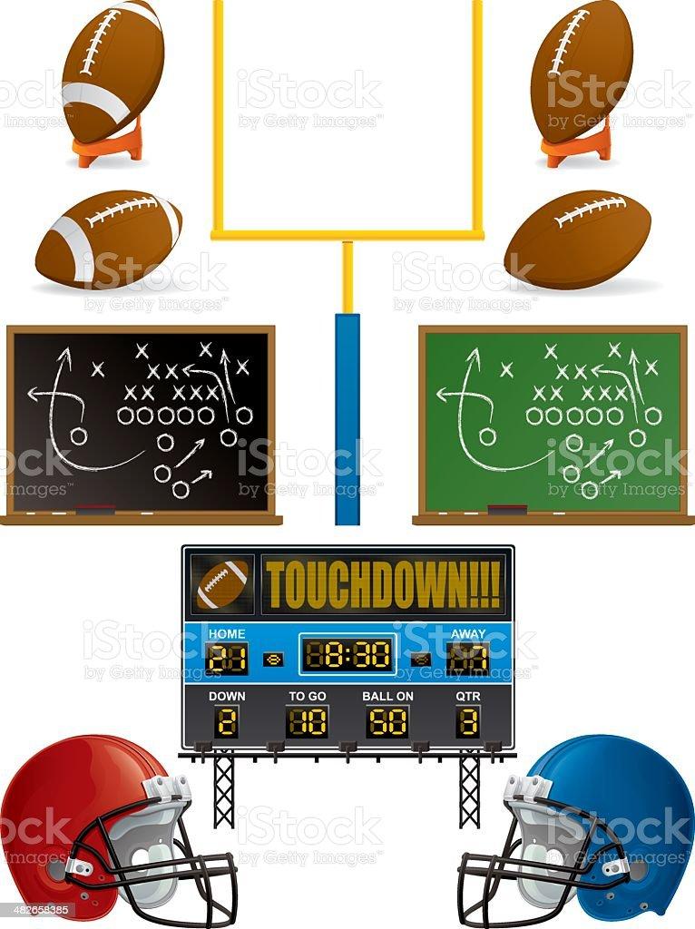 Football Icons vector art illustration