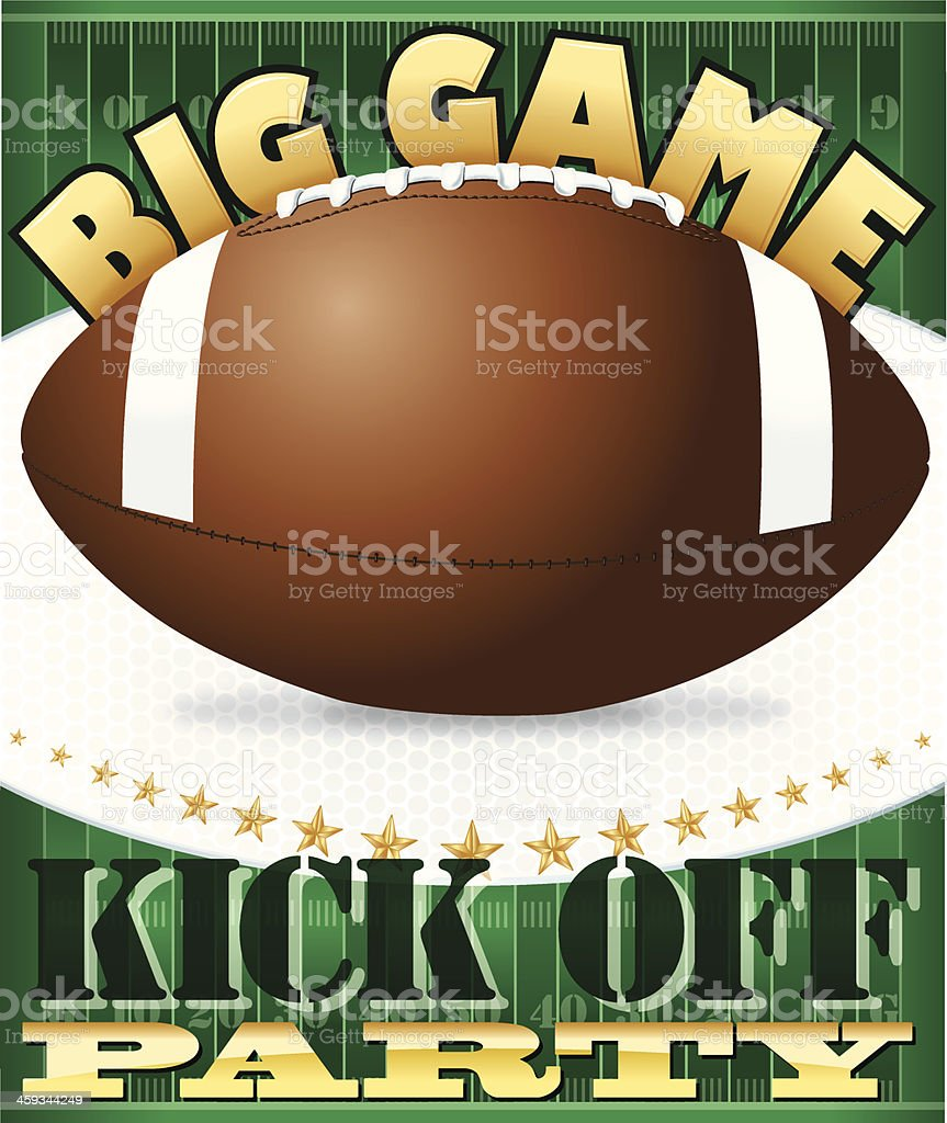 Football Kick Off Party Background - Big Game Background vector art illustration