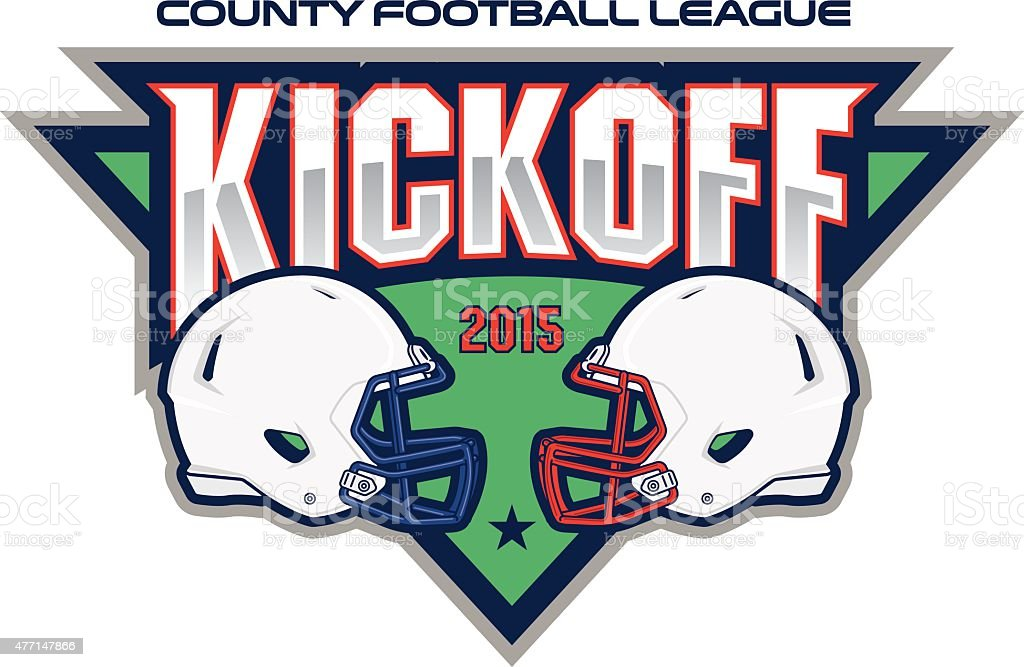 Football Kickoff vector art illustration