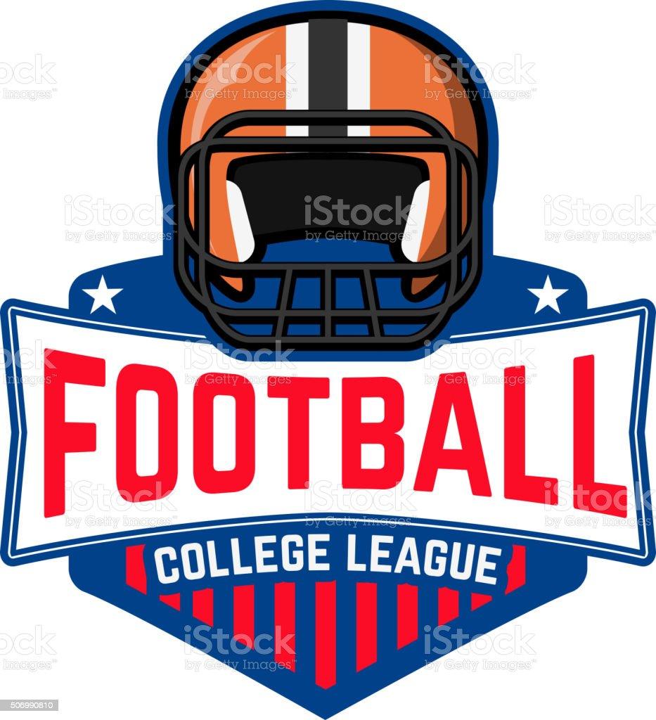 football league. College league. vector art illustration