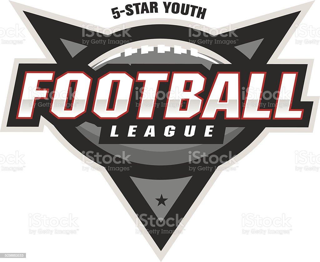 Football League Logo vector art illustration
