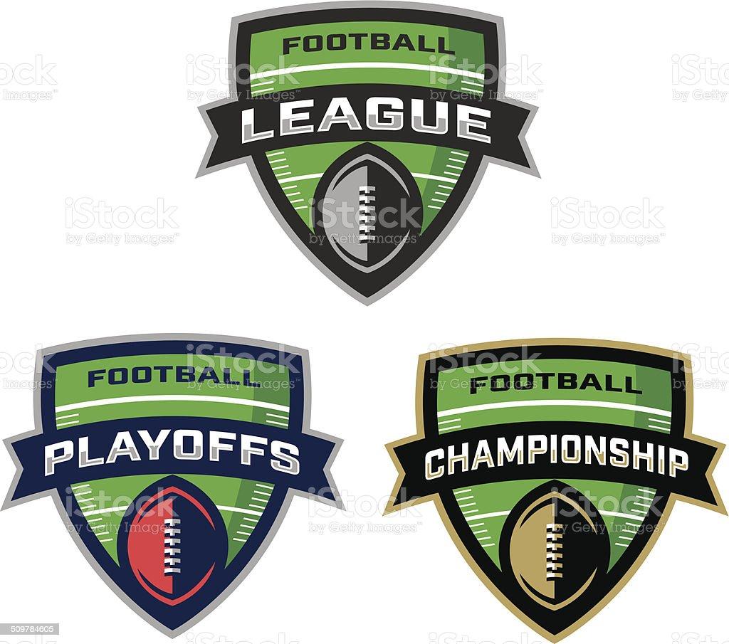 Football League Logos vector art illustration