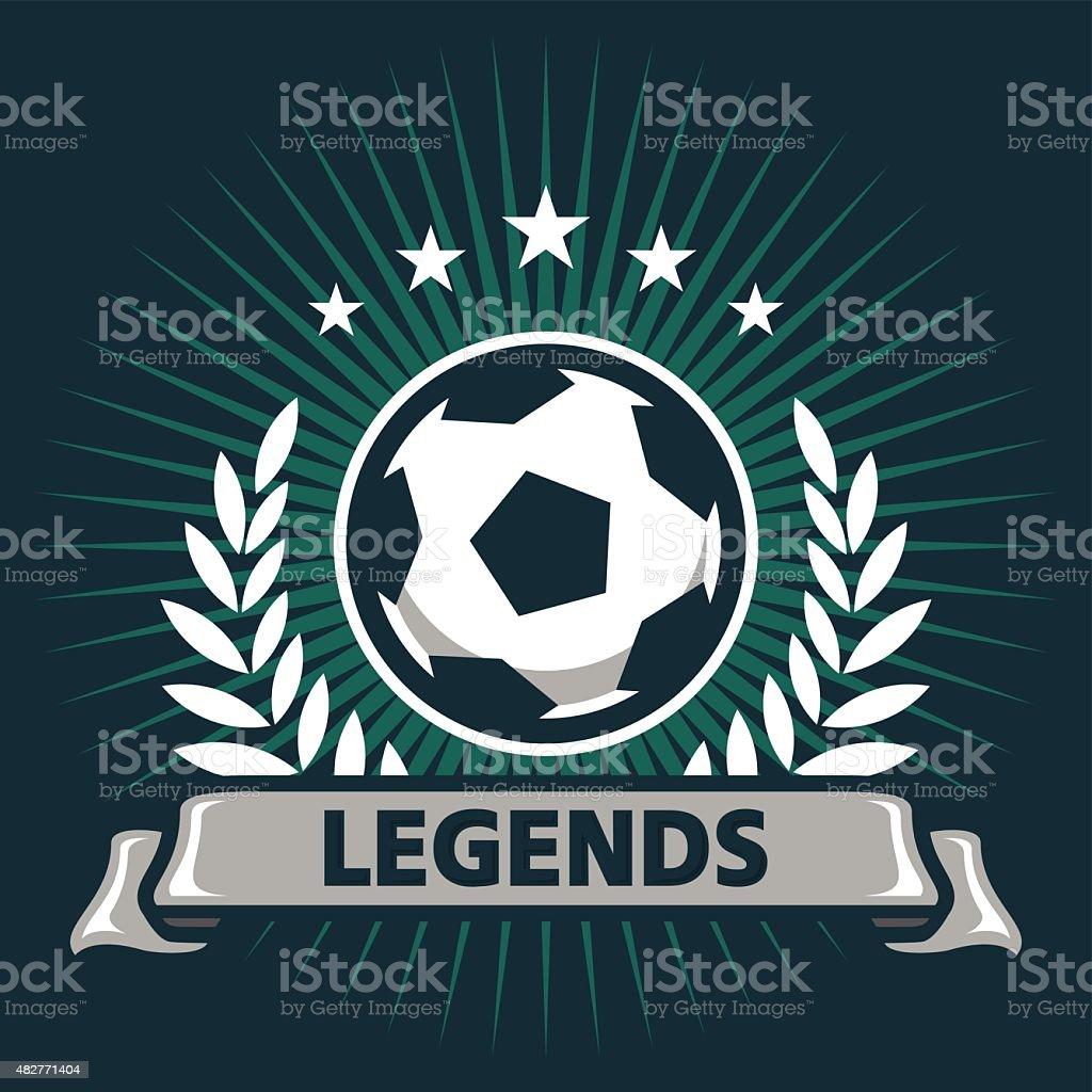 Football Legends vector art illustration