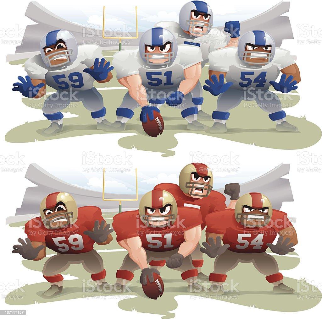 Football - Line of Scrimmage vector art illustration