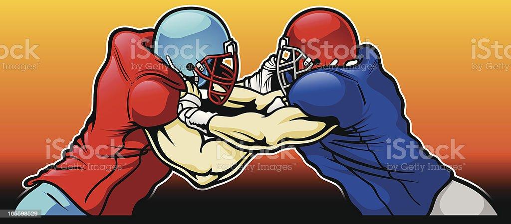 football linemen vector art illustration