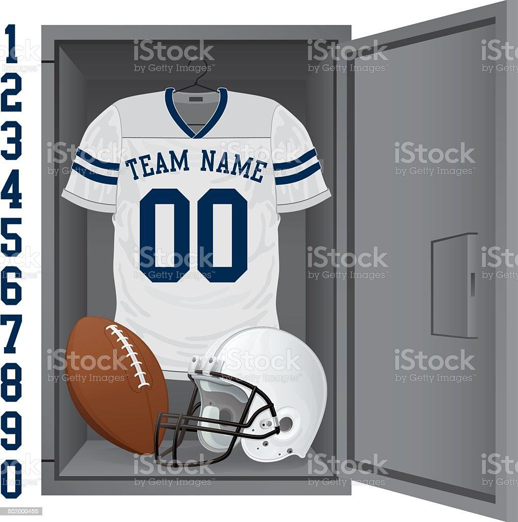 Football Locker vector art illustration
