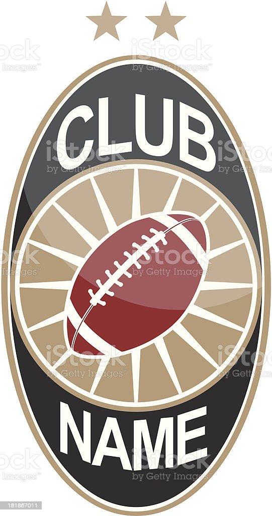 Football logo - elliptic form royalty-free stock vector art