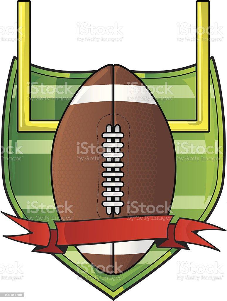 football logo vector art illustration