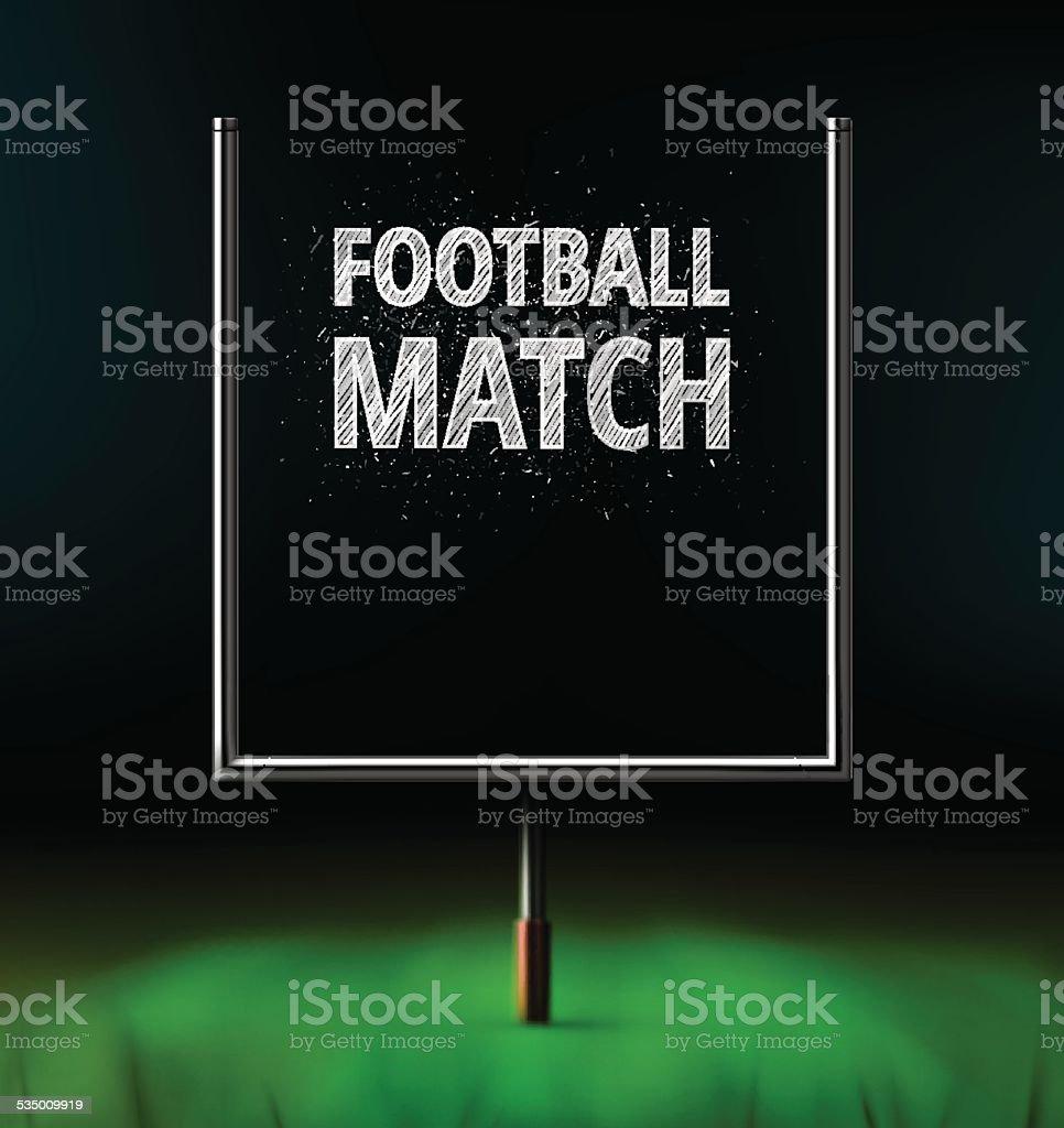 Football Match vector art illustration