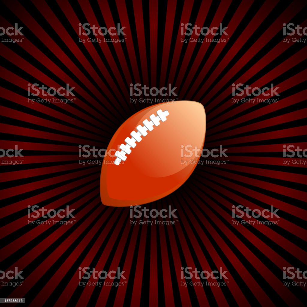 football on royalty free vector Background with glow effect royalty-free stock vector art