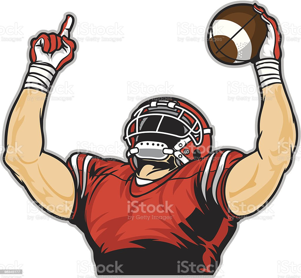 Football One vector art illustration