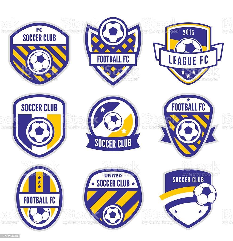 Football or Soccer Club Logo vector art illustration