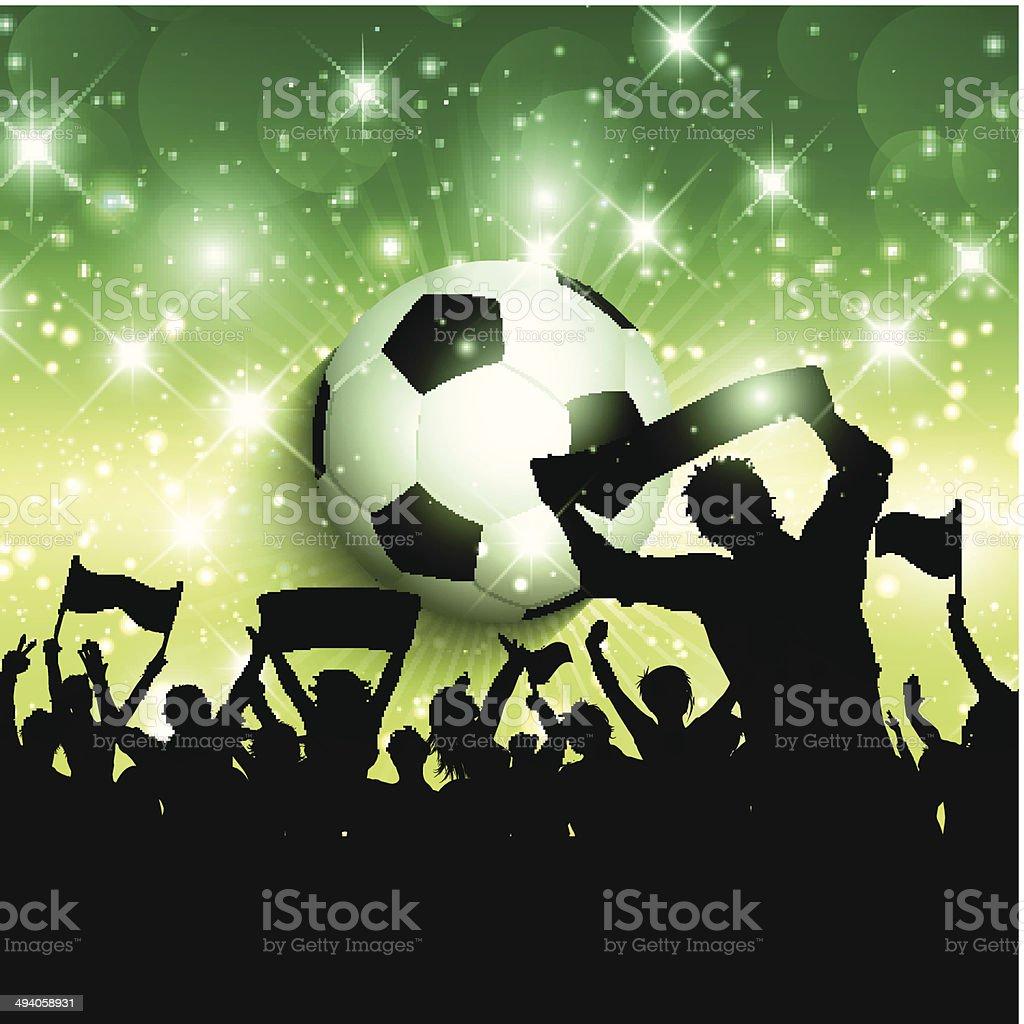 Football or soccer crowd background 1305 vector art illustration