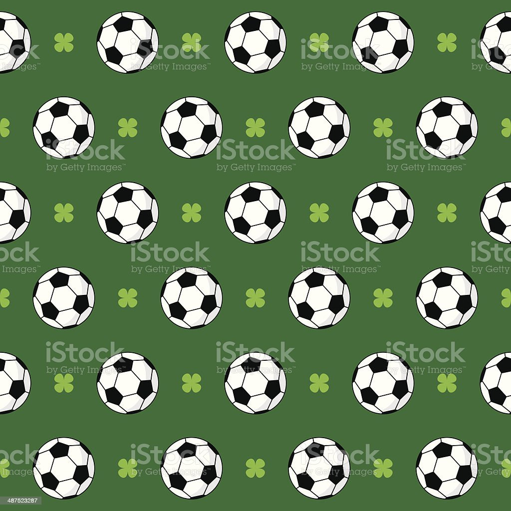 Football or Soccer Pattern royalty-free stock vector art