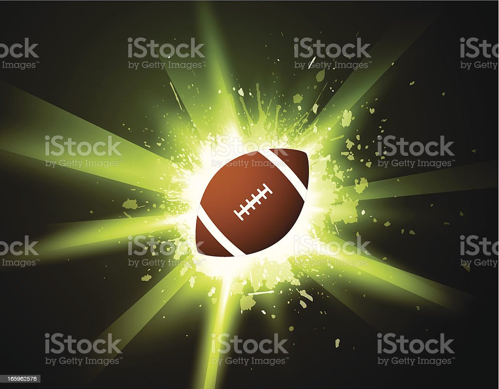 Football over shiny background royalty-free stock vector art