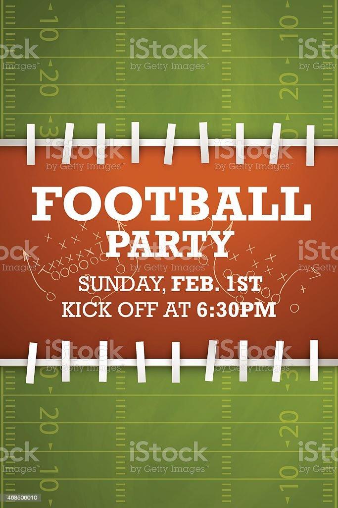 Football party invitation vector art illustration