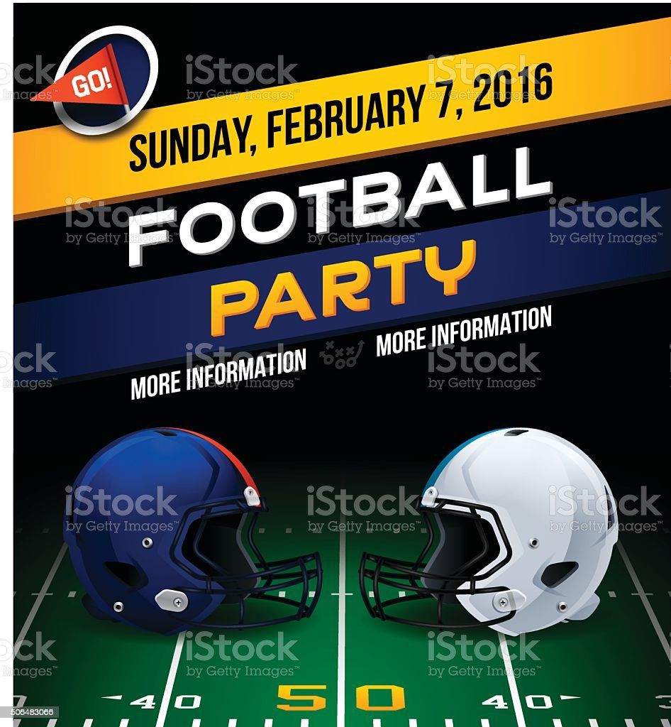 Football Party vector art illustration