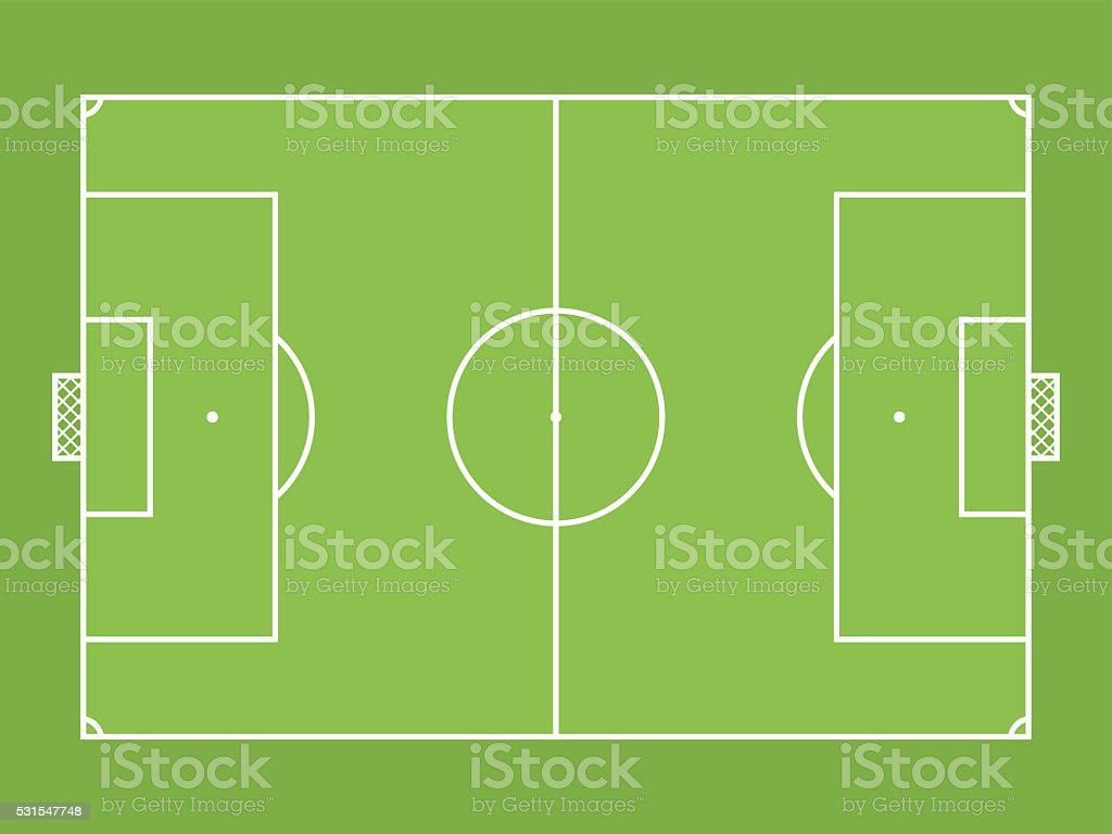 Football (soccer) pitch vector art illustration