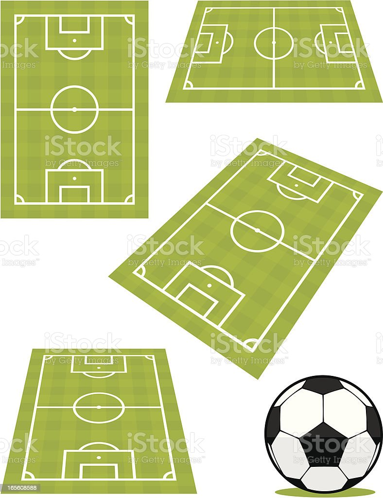 Football pitch views royalty-free stock vector art