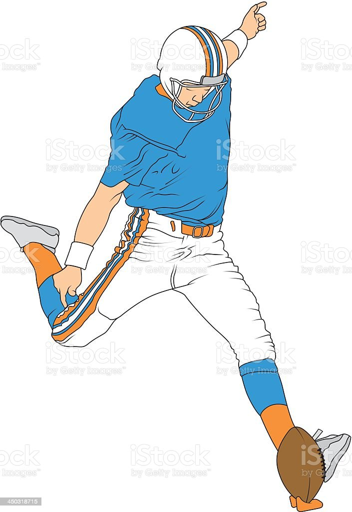 Football Player About to Kick the Ball royalty-free stock vector art