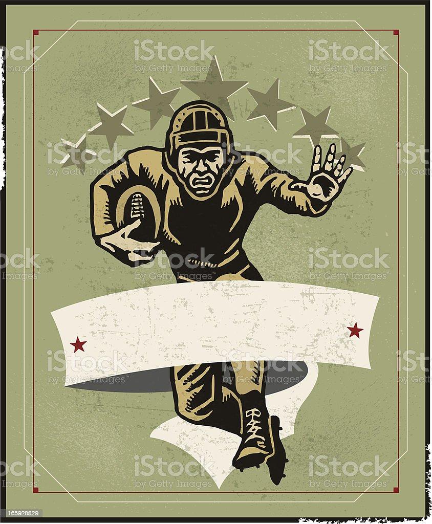 Football Player Background - Retro royalty-free stock vector art