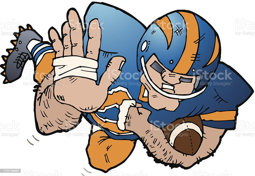 Football Player C royalty-free stock vector art