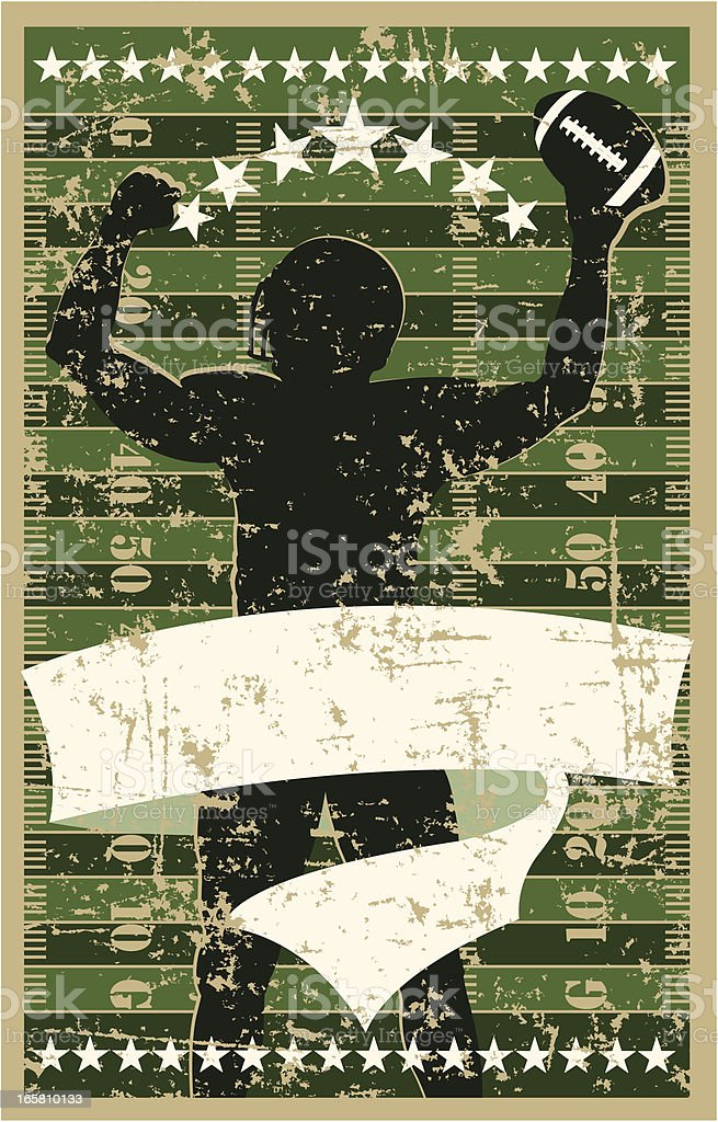 Football Player Celebration royalty-free stock vector art