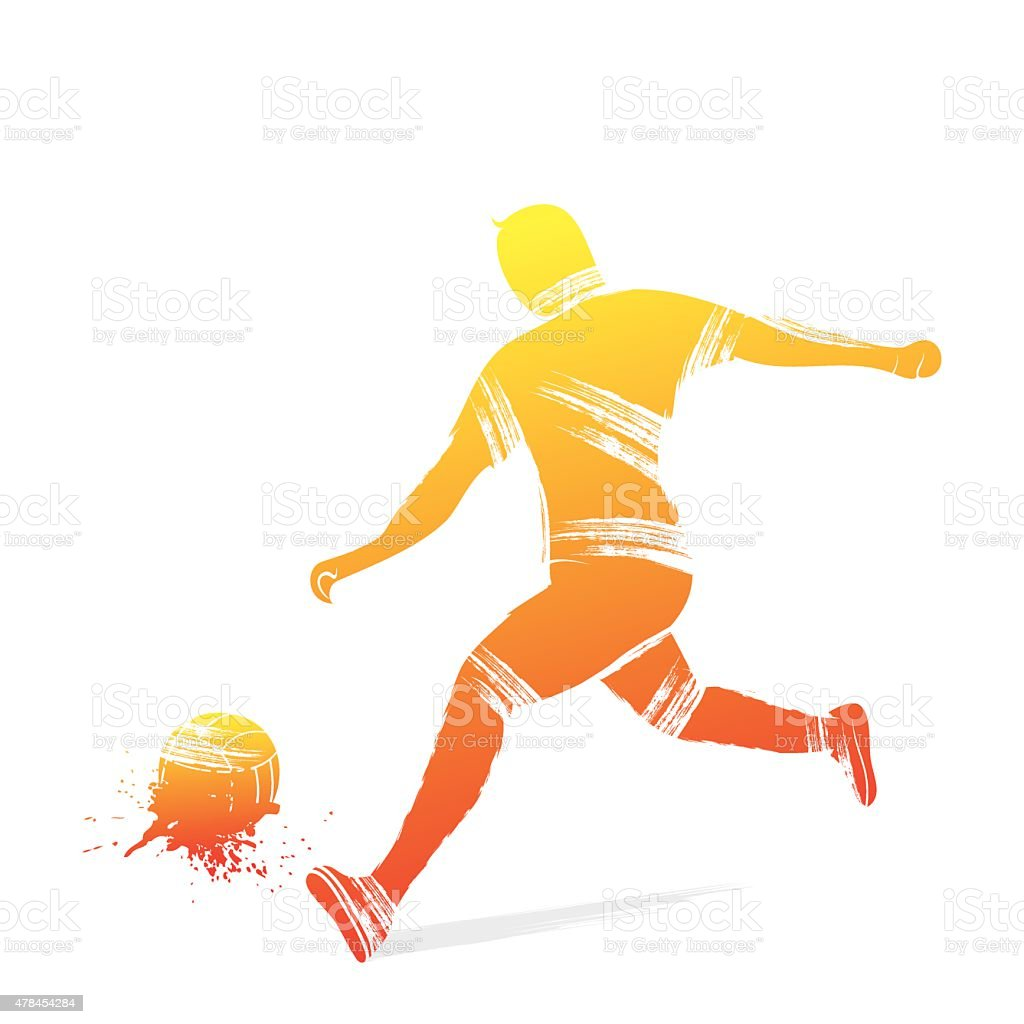 football player design vector art illustration
