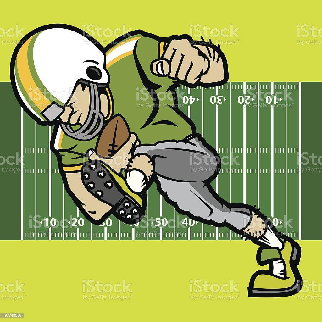 Football Player I royalty-free stock vector art