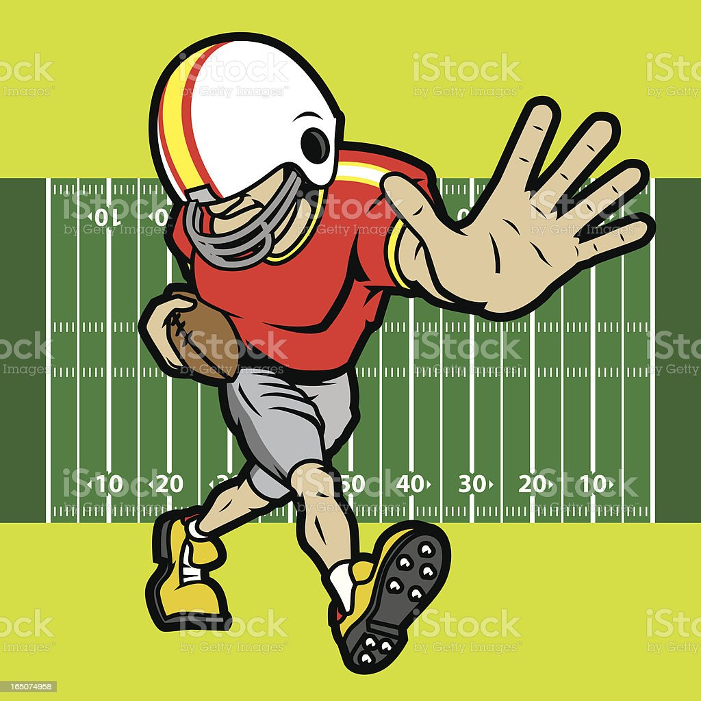 Football Player II royalty-free stock vector art