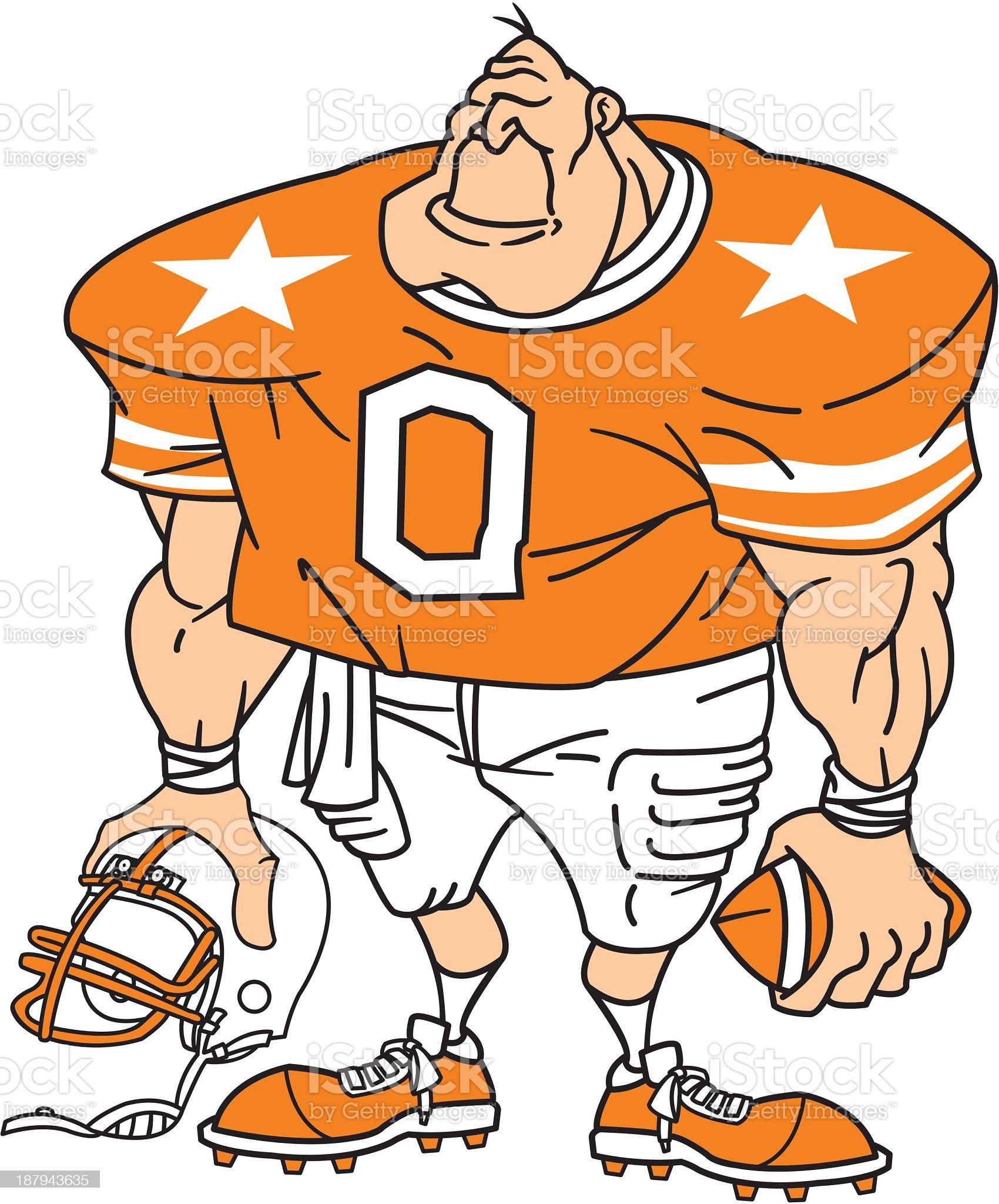 Football Player in Orange royalty-free stock vector art