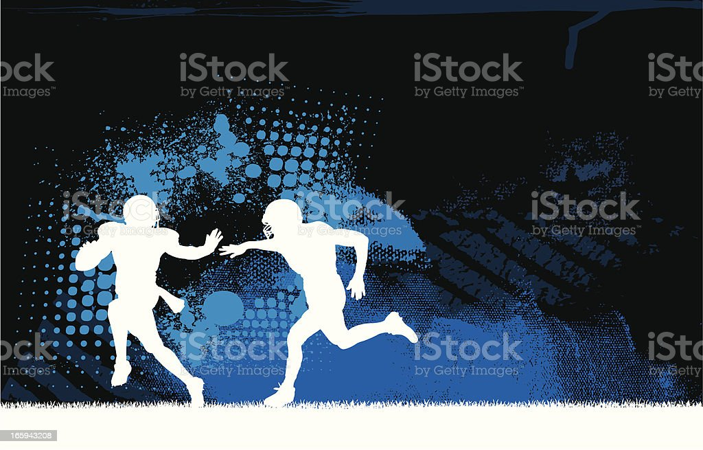 Football Player Tackle Background royalty-free stock vector art
