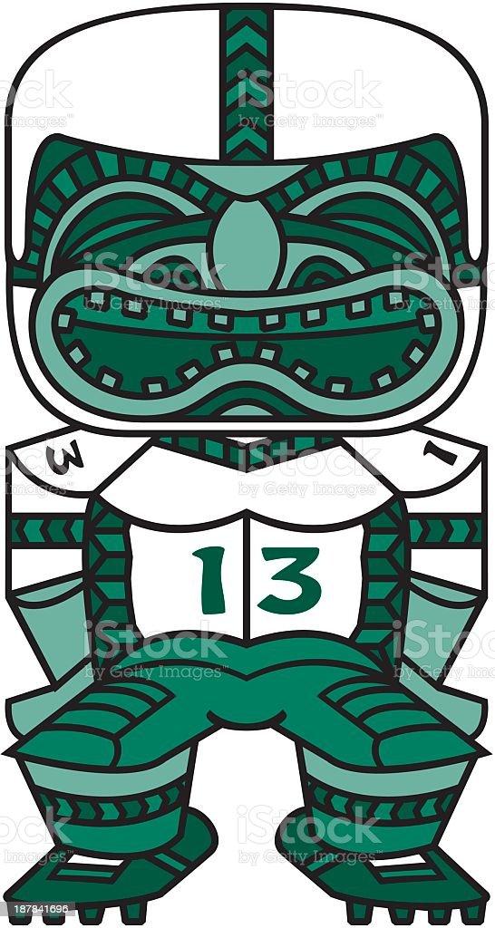 Football Player Totem royalty-free stock vector art