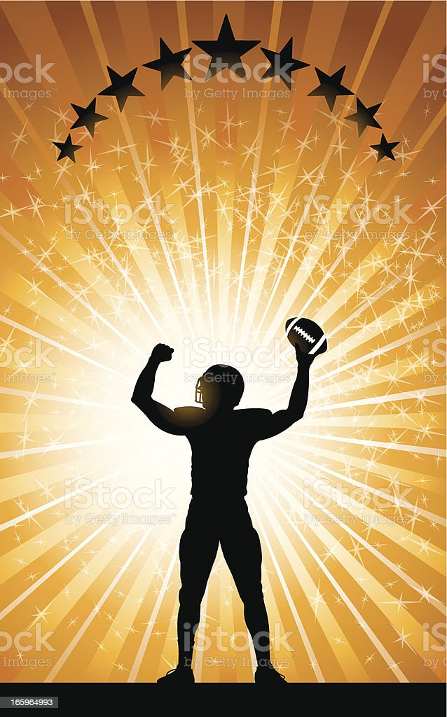 Football Player - Touchdown Background vector art illustration