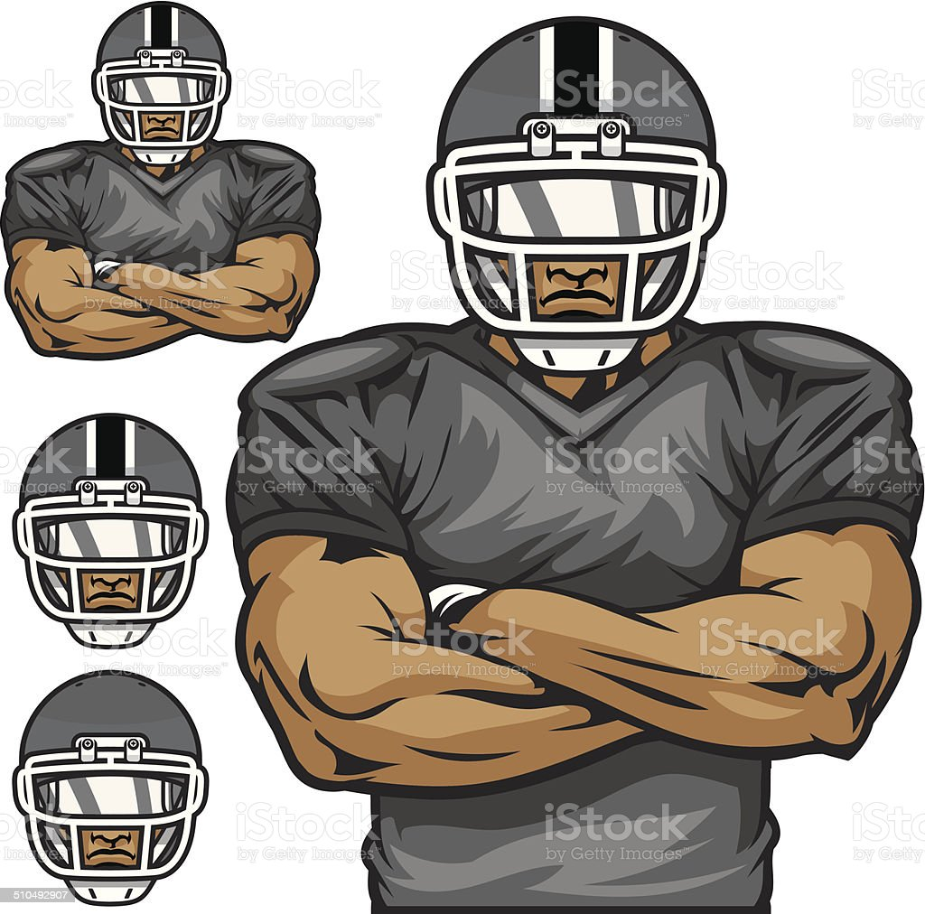 Football player vector art illustration