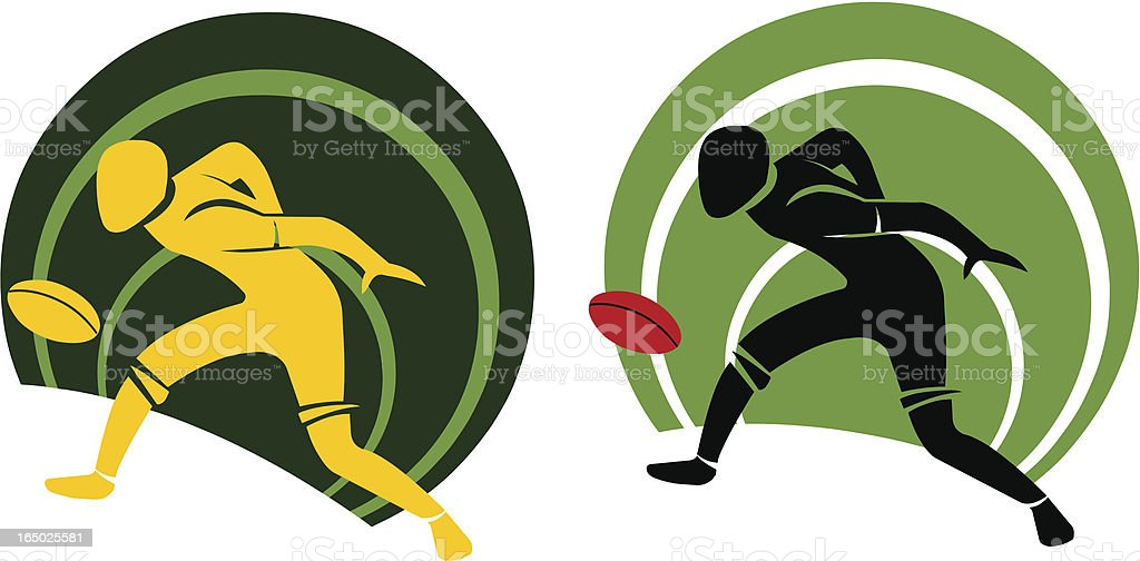 Football player - Vector royalty-free stock vector art