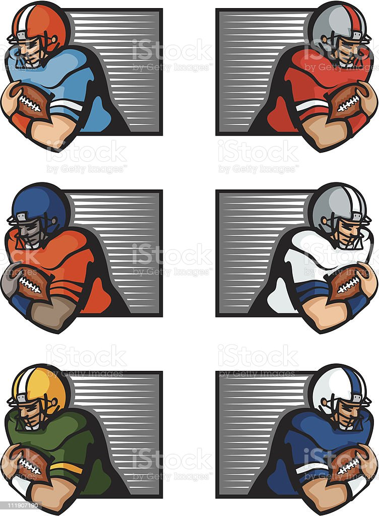 Football players royalty-free stock vector art