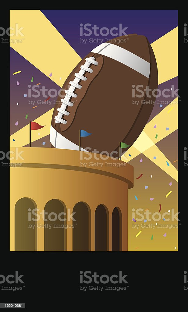 Football Poster royalty-free stock vector art
