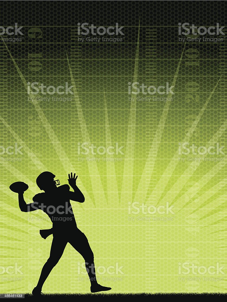 Football Quarterback Background royalty-free stock vector art