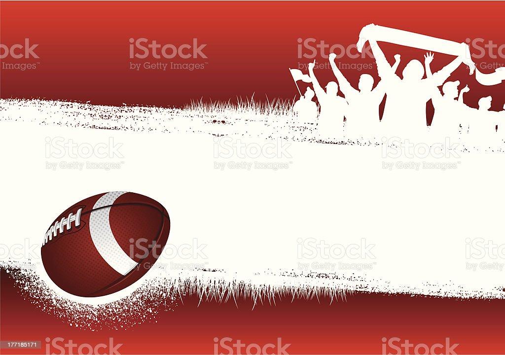 Football Red background vector art illustration
