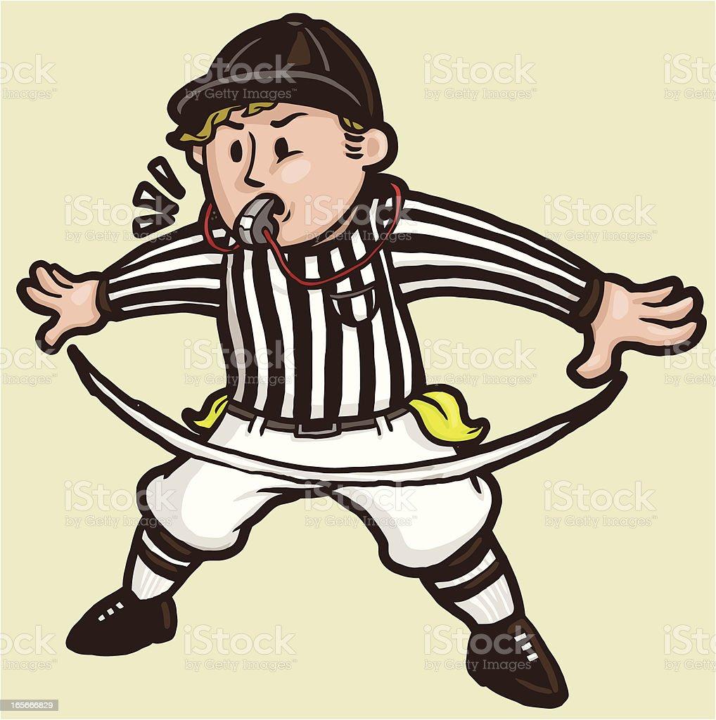 Football Referee signaling 'No Good' royalty-free stock vector art