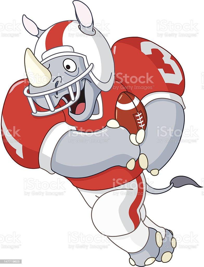 Football rhino vector art illustration