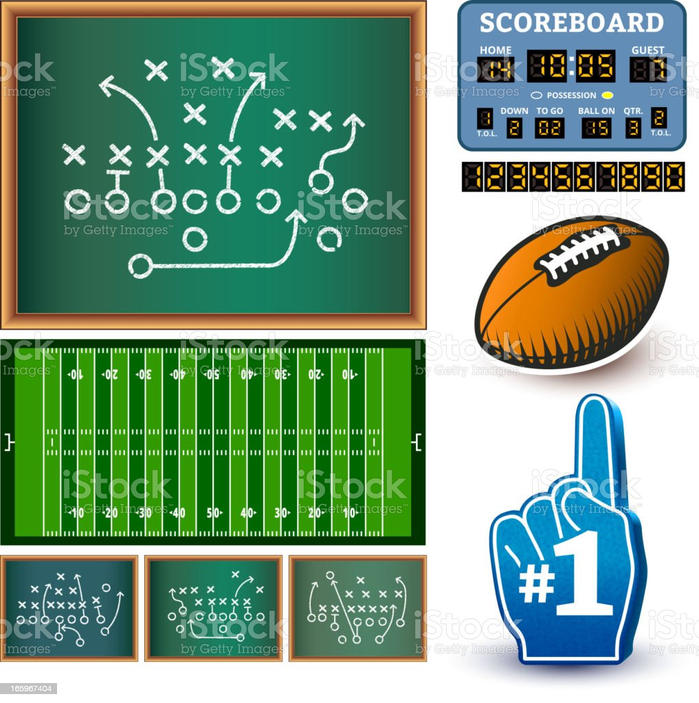 Football royalty free vector Info Graphic interface icon design vector art illustration