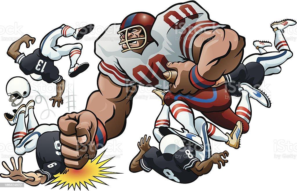 Football Rumble vector art illustration