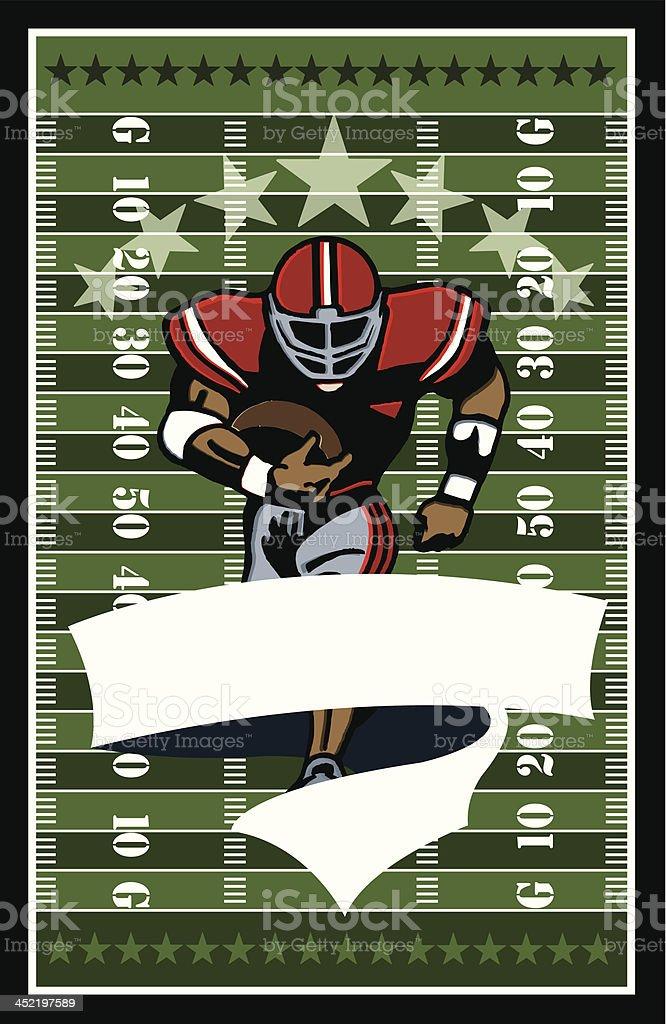 Football Runner Banner Background - All-Star vector art illustration