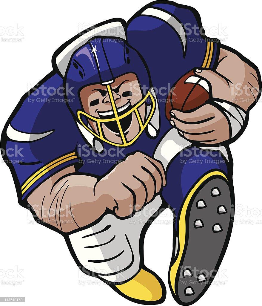 Football running back vector art illustration