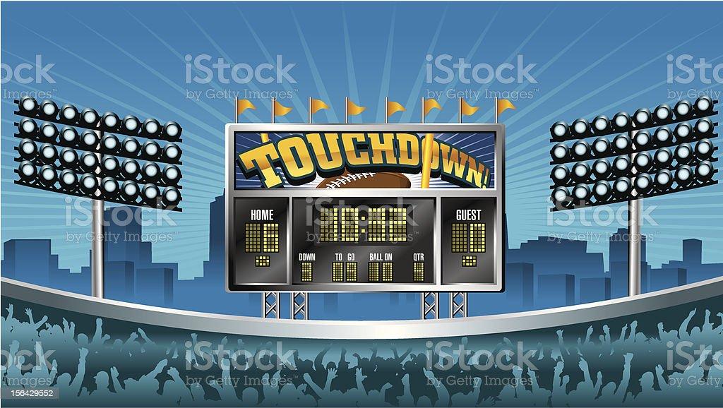 Football Scoreboard vector art illustration