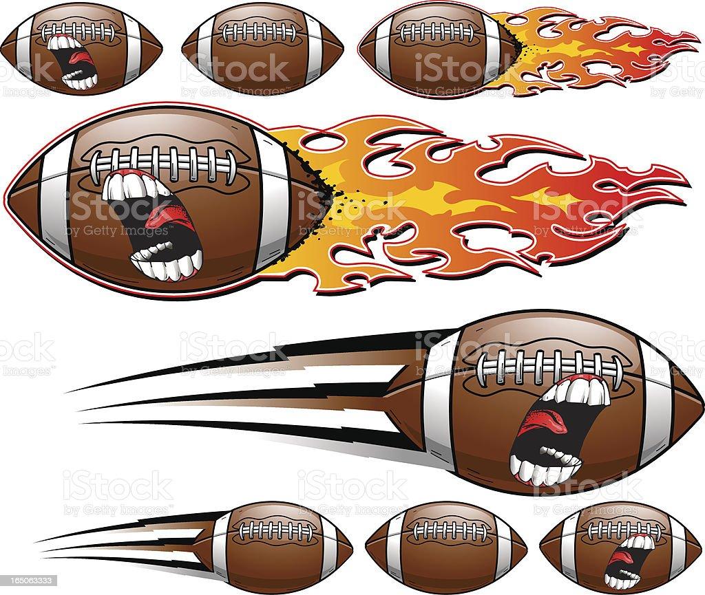 Football Scream vector art illustration