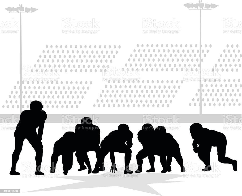 Football Semi Pros vector art illustration