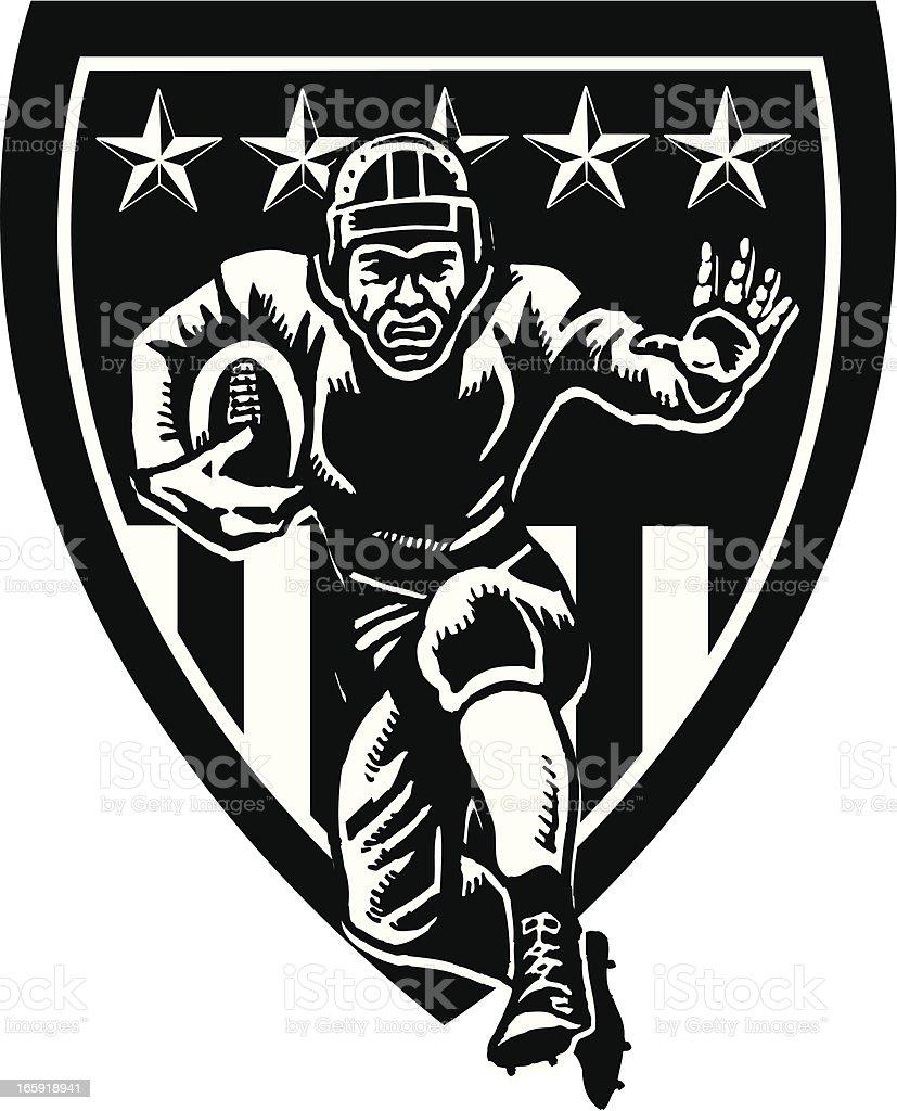 Football Shield Icon - Retro royalty-free stock vector art